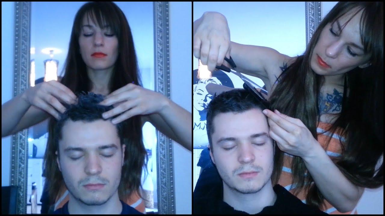 Asmr Shampoo Head Massage Haircut Female Male Asmr Youtube