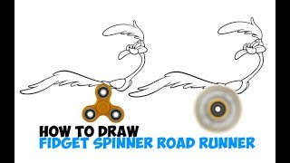 How to Draw Road Runner with Fidget Spinner Running Legs Easy Step by Step Drawing for Kids