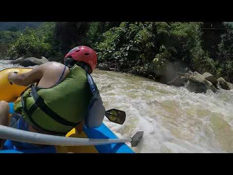 White Water Rafting Going Backwards