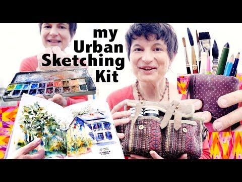 ❖  My URBAN SKETCHING KIT, TOOLS & SETUP. Plein Air Painting Art Bag.