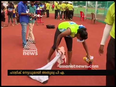 Athulya PA Hatrick meet record in Kerala School Sports meet