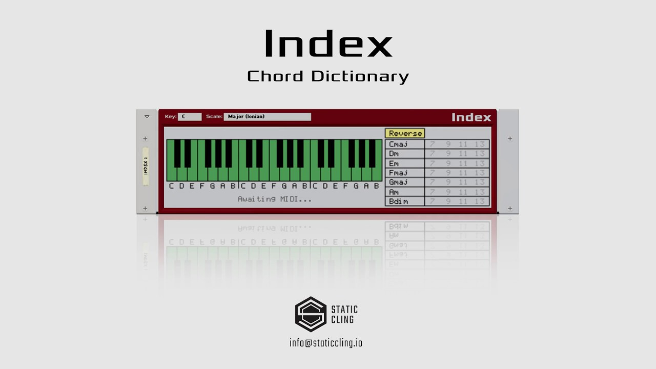 Index Chord Dictionary | Chord Dictionary | Shop | Propellerhead