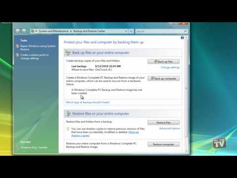 Backing Up Your Entire Windows Vista PC