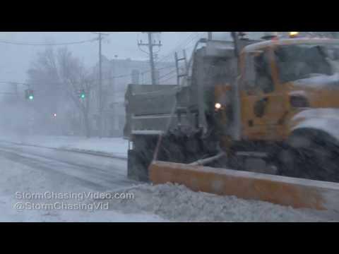 Huntington Suffolk County Long Island NY -  Blizzard Conditions - 2/9/2017