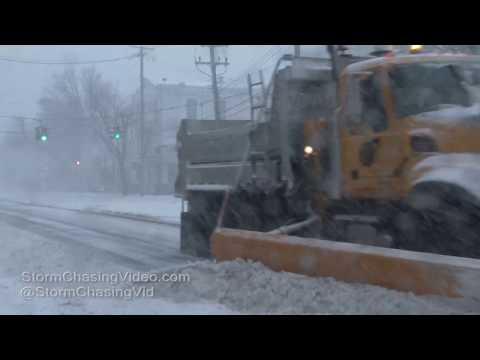 Huntington Suffolk County Long Island NY -  Blizzard Conditions - 2/9/2017