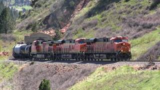 BNSF freight train North of Tunnel #1 on the Moffat Route