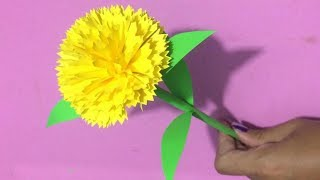 How to make carnation paper flower easy origami flowers for how to make carnation flower with paper making paper flowers step by step diy mightylinksfo