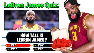 Lebron James Basketball Quiz! Every Question I Miss I Eat Worlds Hottest Wing!