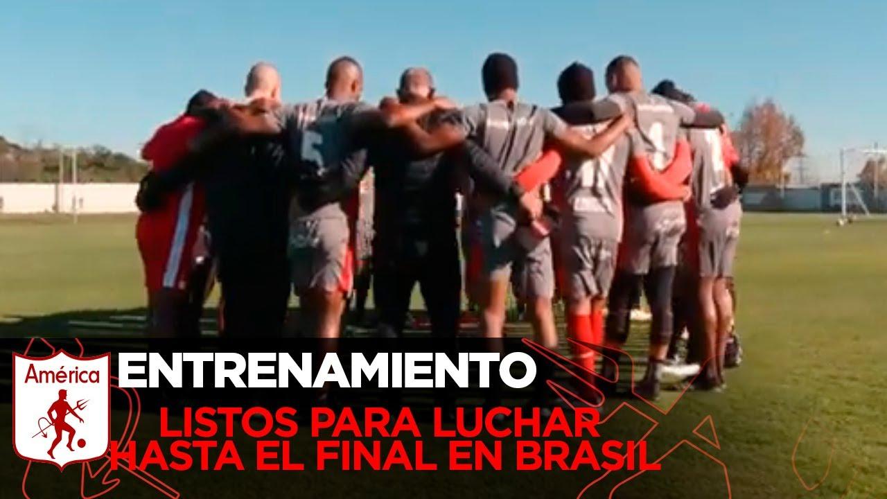 🔥 Estamos listos para luchar hasta el final en Brasil. 🇧🇷 - América de Cali 🔥