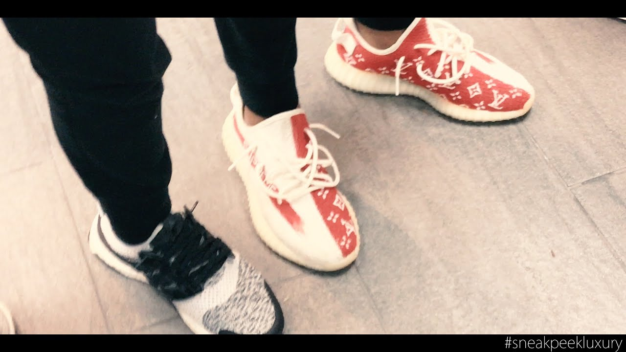 6df0e4b2fe2 SNEAK PEEK LUXURY 2018 - YOUNG BUYER WITH 1 1 LV SUPREME YEEZY - YouTube