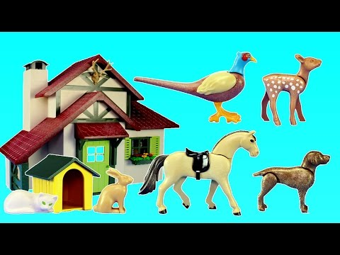 Playmobil Forest Ranger's House Building Toy Set with Animals Build Review For Kids