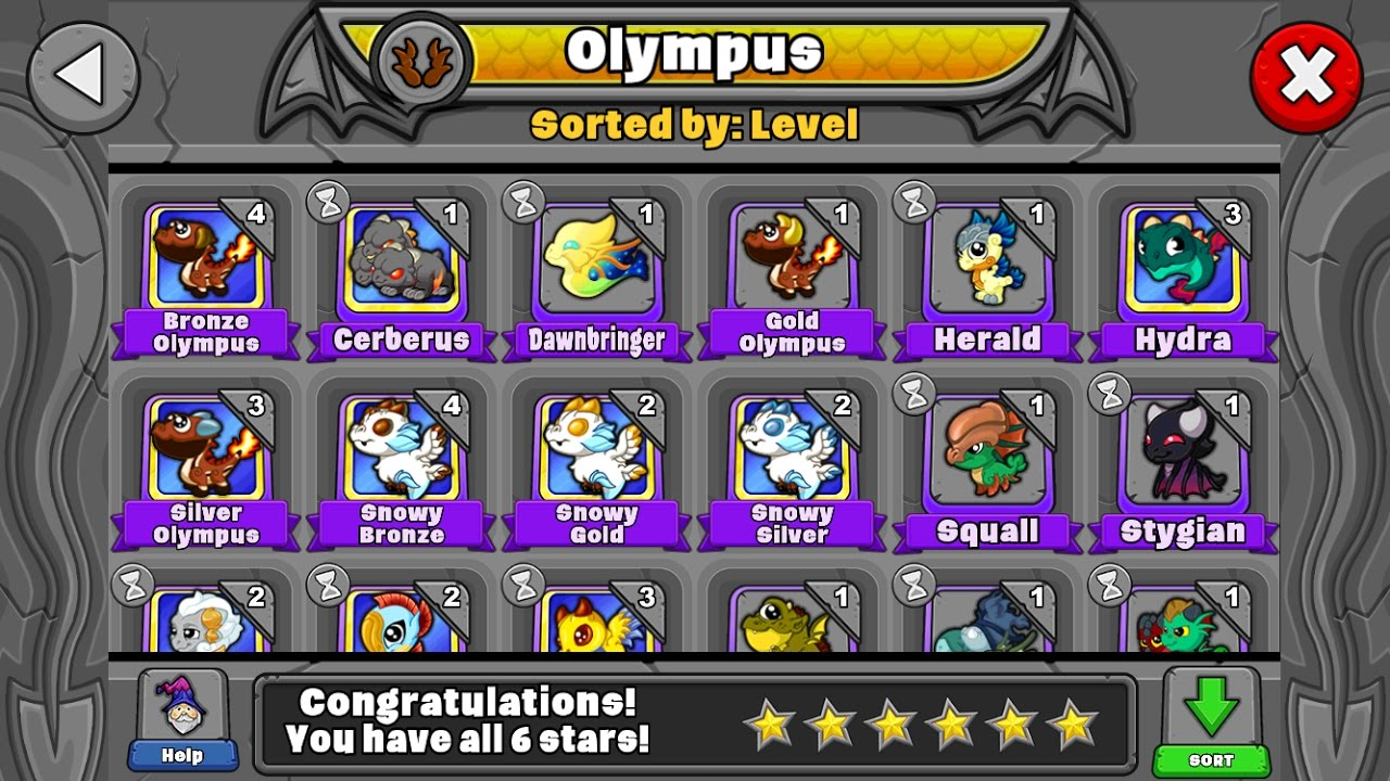 how to make a gold olympus dragon in dragonvale