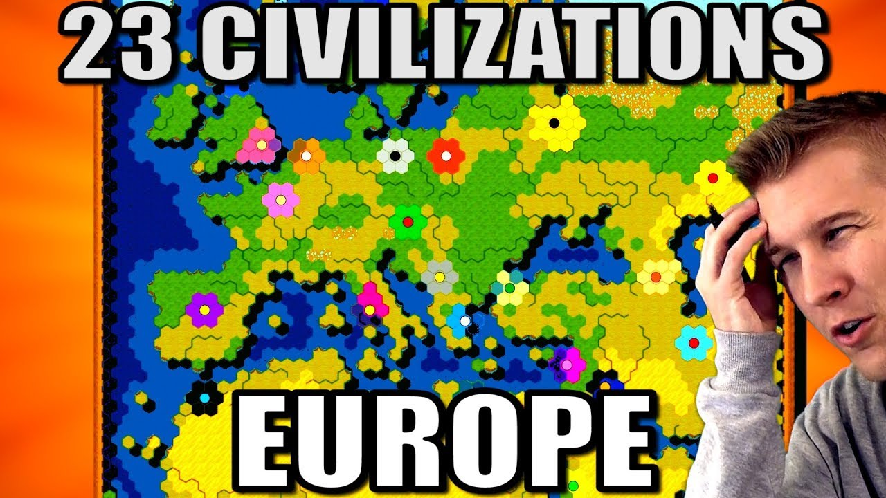 23 Nations Battle Royale in Europe! (Civ 6 Gathering Storm)