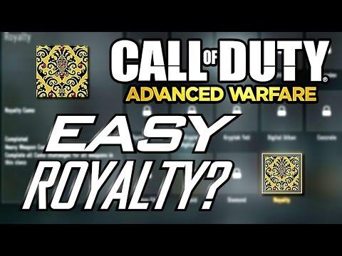 Advanced Warfare: How to Unlock Royalty Camos Easily!! Potential Bug/Glitch???