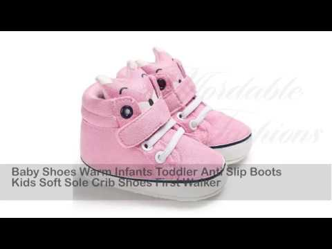 Baby Shoes Warm Infants Toddler Anti Slip Boots Kids Soft Sole Crib Shoes