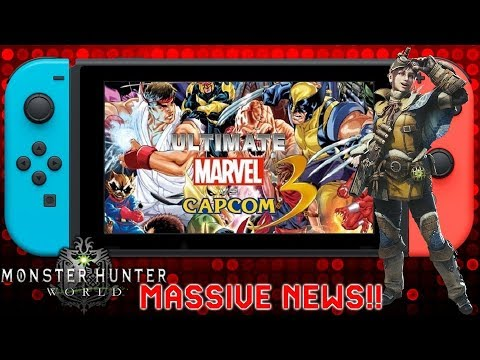 Massive News: Ultimate Marvel Vs Capcom 3 Switch Leak & Monster Hunter World Sales Top 7.5 Million - 동영상