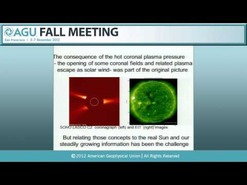 Parker Lecture: SH34A. The Inner Heliosphere at 50 - 2012 AGU Fall Meeting