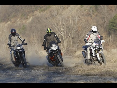 Honda Africa Twin 1000 vs BMW F800GS vs KTM 1190 ADV R [ENGLISH sub]