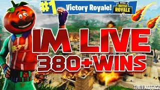 IS TILTED TOWERS GETTING DESTROYED?! | 320+ Solo Wins | Level 100! | Fortnite Battle Royale LIVE