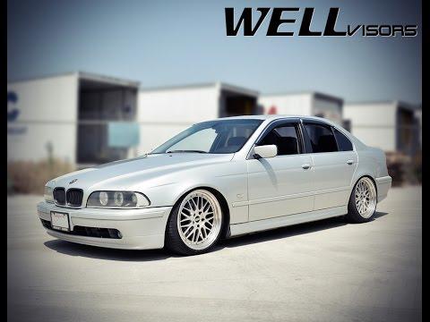 WELLvisors side window deflector vent visor Installation Video BMW E39 5-Series 97-03