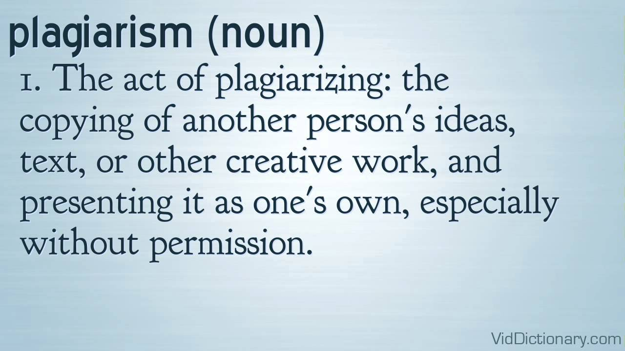 Image result for definition of plagiarism