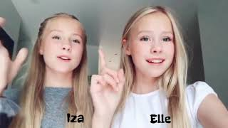 Iza and Elle All TikTok Of September & October 2018 With Names