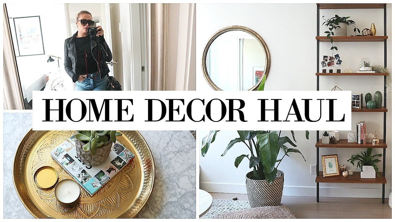DECORATING MY APARTMENT + Home Haul   allanaramaa - YouTube