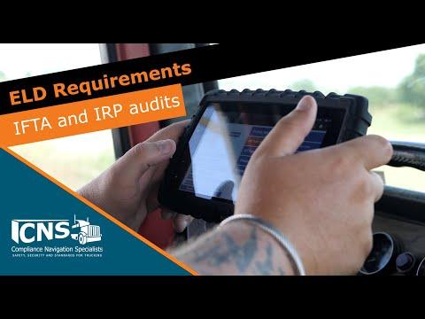 IFTA And IRP Audits: ELD Or Electronic Record Keeping Requirements   CNS