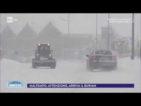 """Forte ondata di gelo siberiano: in Italia arriva il """"Burian"""" - La Vita in Diretta 21/02/2018"""