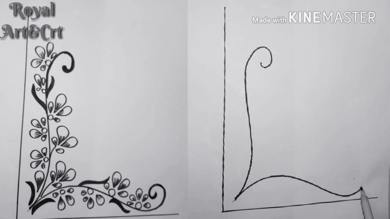 Quickly Draw Corner Art Design For Projects Work Border Corner Design Project Work Art Des 28