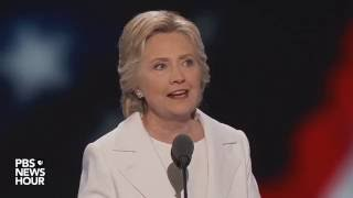 Hillary Clinton accepts the Democratic nomination for president