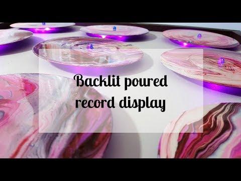 100 - 3D DIY Backlit Record Pour Wall Art - Part 2