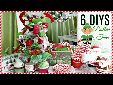 "🎄6 DIY DOLLAR TREE CHRISTMAS DECOR CRAFTS 2019🎄VINTAGE""I Love Christmas"" ep8 Olivias Romantic Home"