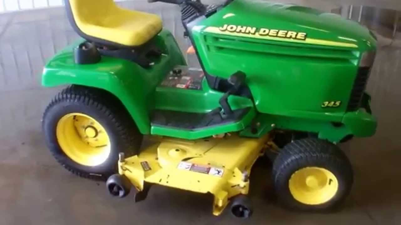John Deere 345 >> 2001 John Deere 345 52 Lawn Mower Www Wmsohio Com