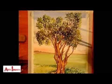 Arte Imparo Dipingere Un Albero Ad Acquerello Youtube