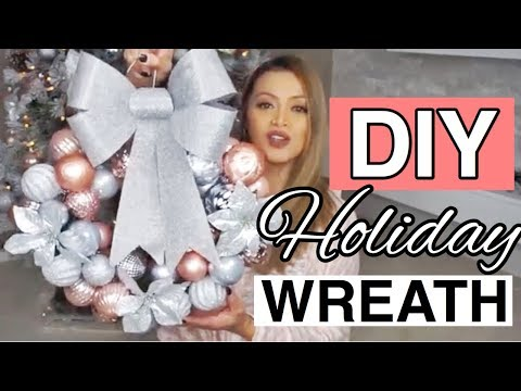 DIY CHRISTMAS WREATH WITH A HANGER