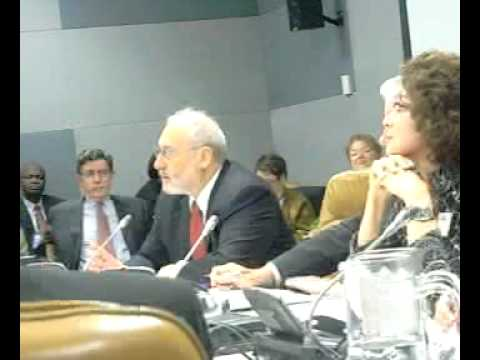 Economist Joseph Stiglitz at the UN Conference on the Status of Women