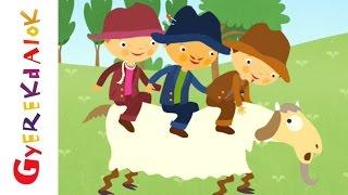 Három szabó legényke (Gyerekdalok és mondókák, rajzfilm gyerekeknek)