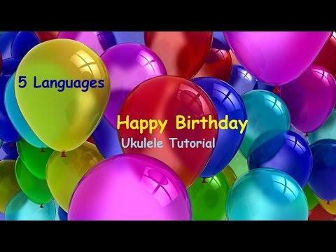 Happy Birthday Ukulele Tutorial Tabs Chords Strumming 5