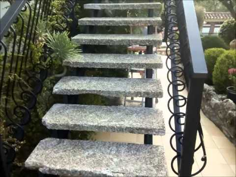 escalera exterior piedra artificial youtube
