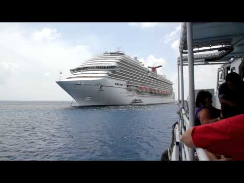 Tender from Grand Cayman to the Carnival Magic cruise ship