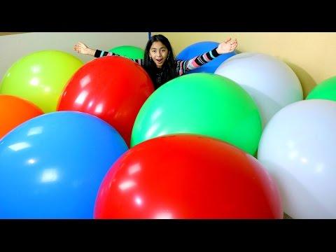 MEGA HUGE BALLOON POP Worlds Biggest Balloons|  B2cutecupcakes