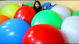 MEGA HUGE BALLOON POP Worlds Biggest Balloons|  B2cutecupcakes