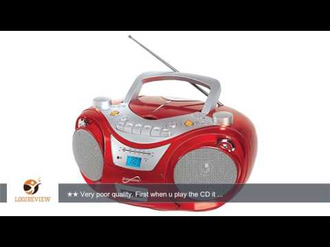 Supersonic Portable MP3/CD Player-Red | Review/Test