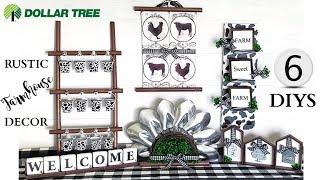 Dollar Tree DIYS ~ 6 Rustic Farmhouse Home Decor Crafts ~ Buffalo Check Theme!!!