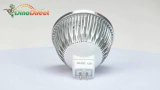 MR16 4W 5500-6000K Pure White Light LED Light Bulb(DC12V)  from Dinodirect.com