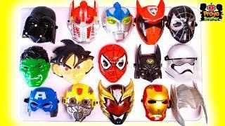 Aksi Superhero Mencocokan 10 Kostum Dengan Banyak Topeng-Ultraman Spiderman Bumblebee Power rangers