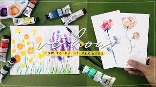 vẽ bông hoa đẹp nhất !?! ft. màu nước Renesans I Kiquy Pham