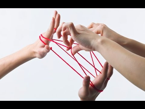 String games: how to do a cat's cradle string figure