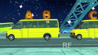 ABCD Songs | Alphabet Songs On Yellow Colour Vans For Kids | Popular ABC Songs For Kids